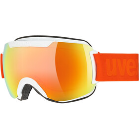 UVEX Downhill 2000 CV Maschera, white mat/colorvision orange fire